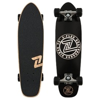 "Z-FLEX COMPLETE SKATEBOARD - Z CIRCLE CRUISER 27"" - BLACK/WHITE"