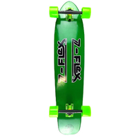 Z-FLEX KICKTAIL COMPLETE LONGBOARD SKATEBOARD - GREEN