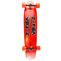 Z-FLEX KICKTAIL COMPLETE LONGBOARD SKATEBOARD - RED