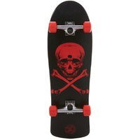 Z-FLEX THROWBACK COMPLETE SKATEBOARD - SKULL AND BONES BLACK RED