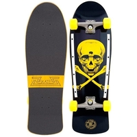 Z-FLEX THROWBACK COMPLETE SKATEBOARD - SKULL AND BONES NAVY YELLOW