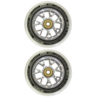 EAGLE 115MM SCOOTER WHEELS SET OF 2 HARDLINE X6 SNOWBALLS WITH BEARINGS