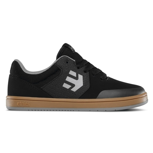 ETNIES KIDS SKATE SHOE - MARANA - BLACK / GUM / GREY [Shoe Size: 10C]
