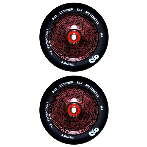 INFINITY 110MM SCOOTER WHEELS SET OF 2 WITH BEARINGS - SPIRIT