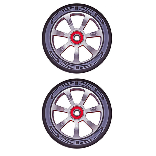 CRISP HOLLOWTECH 100MM WHEEL SET - SILVER BLACK