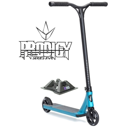 ENVY PRODIGY S5 2017 COMPLETE SCOOTER - BLUE - BONUS STAND