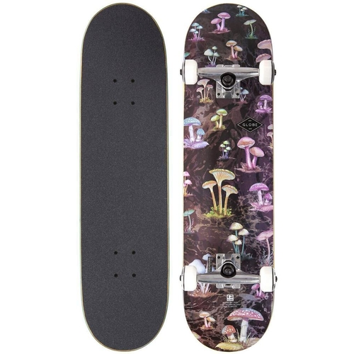 GLOBE SKATEBOARD COMPLETE - FULL ON BLACK SHROOMS
