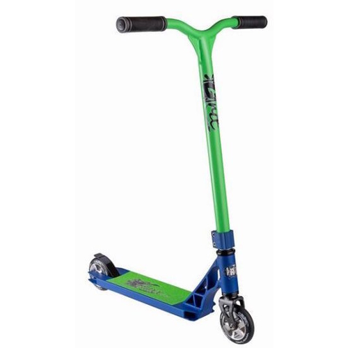 GRIT FLUXX MINI COMPLETE SCOOTER MY16/17 - SATIN BLUE / GREEN - BONUS STAND