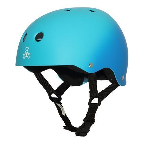 TRIPLE 8 BRAINSAVER SS HELMET - BLUE FADE RUBBER  - SIZE SMALL - SKATE SCOOTER