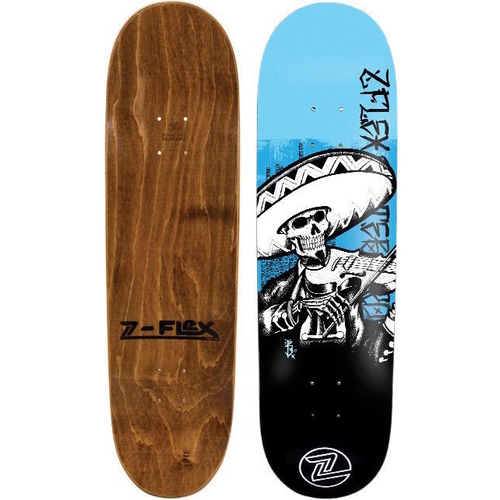 Z-FLEX SKATEBOARD DECK - MARIACHI - BLUE - 8.0
