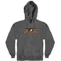Anti Hero HD Eagle Hoodie Small Charcoal