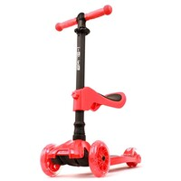 I-Glide Complete 3 Wheel Kids Scooter with Seat Red