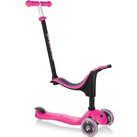 Globber Go Up Sporty 3 Wheel Scooter Deep Pink