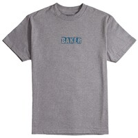 Baker Brand Logo T-Shirt Large Heather Grey