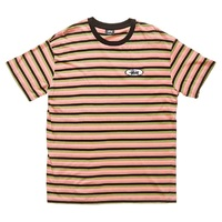 Stussy Classic Stripe T-Shirt Extra Large Hot Coral