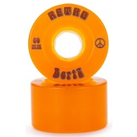 Abec 11 Skateboard Wheels Bertz Retro 81A 60mm Orange