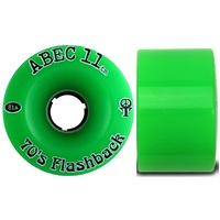 Abec 11 Skateboard Wheels 70s Flashback 81A 70mm Green
