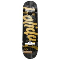 Holiday Skateboards Complete Tie Dye Black Gold 8.25