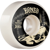 Bones Skateboard Wheels 100's Desert Skull OG V4 Wide 100a 55mm