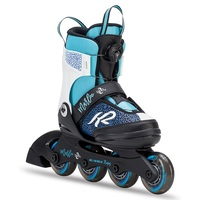 K2 Marlee Boa Blue Black White Inline Skates Girls US 1 - 5
