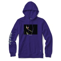 Color Bars Hoodie American Psycho Chainsaw Purple Large