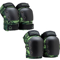 Protec Protective Pad Set Street Knee And Elbow Camo Large