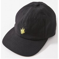 Afends Hat Cap Tito Flame Hemp 6 Panel Black