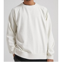 Afends Crew Neck THC Hemp Off White Extra Large