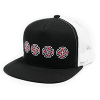 Independent Skate Snapback Trucker Hat Cross Sequent Black