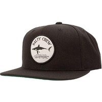 Salty Crew Hat Cap Bruce 6 Panel Adjustable Black