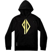 Pissdrunx Hoodie Embroidered PD Logo Black Gold Large