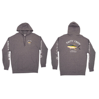 Salty Crew Hoodie AHI Mount Fleece Gunmetal Heather Large