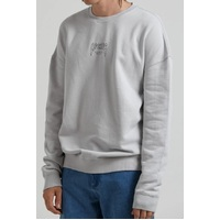 Afends Crew Neck Recycle Or Die Oversized Smoke Medium