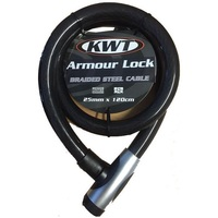 KWT ARMOUR BIKE LOCK 25MM X 100CM