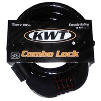 KWT COMBO BIKE LOCK 12MM X 180CM