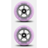 PROTO GRIPPERS 110MM SCOOTER WHEELS SET OF 2 - FADED - PASTEL PURPLE GHOST GREY