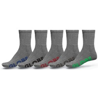 Globe Boys Youth Socks 5 Pairs Grey Stealth Crew