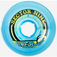 Sector 9 Top Shelf 72mm 75A Clear Blue Longboard Skateboard Wheels