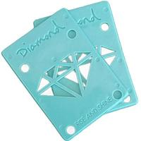 Diamond Riser Pads 1/8 Pair Blue