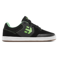 ETNIES KIDS SKATE SHOE - MARANA - BLACK / LIME