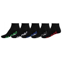 Globe Boys Youth Socks 5 Pairs Stealth Ankle Black