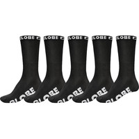 Globe Boys Youth Socks 5 Pairs Blackout Crew
