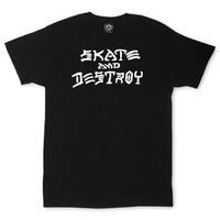 Thrasher Skate & Destroy T-Shirt Small Black