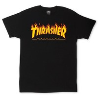 Thrasher Flame T-Shirt Large Black
