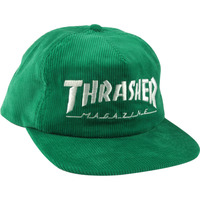 Thrasher Skate Hat - Magazine Logo Cord Snap - Green