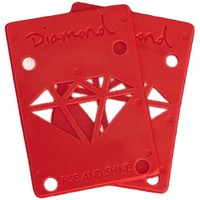 Diamond Riser Pads 1/8 Pair Red