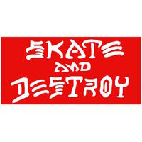 Thrasher Skate & Destroy Sticker Medium - Red