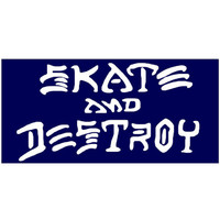 Thrasher Skate & Destroy Sticker Medium - Blue