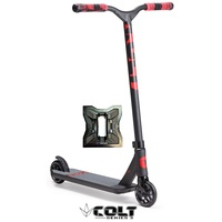 ENVY COLT S3 2018 BLACK RED COMPLETE SCOOTER - BONUS STAND - SERIES THREE
