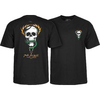 POWELL PERALTA MCGILL SKULL & SNAKE T-SHIRT - XL BLACK